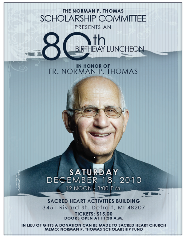80th Birthday Program
